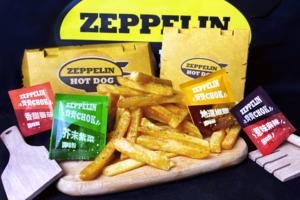 【Zeppelin Hot Dog】齊柏林熱狗店期間限定CHOK CHOK薯條 芥末紫菜/椒鹽/蕃茄/麻辣調味粉4款口味!