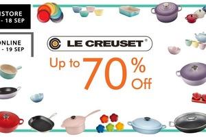 【Le Creuset開倉】中環Le Creuset廚具開倉低至3折!琺瑯鑄鐵鍋/入場登記方法/日期/地址