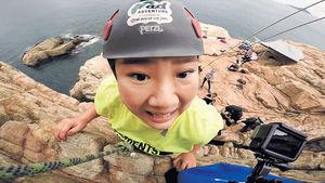 慶祝個人頻道破10萬訂閱 畏高鄭欣宜攀石「找數」