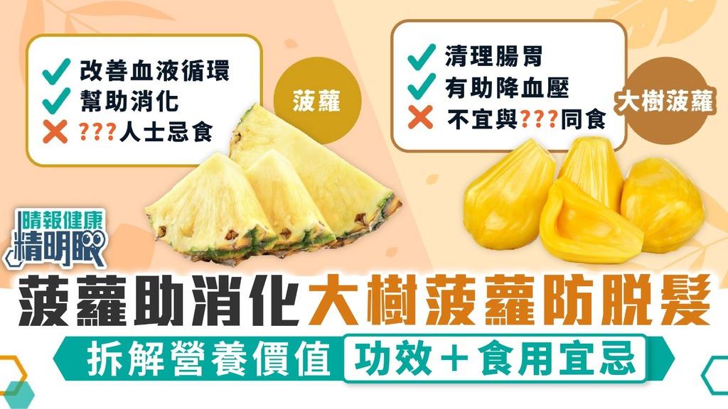 晴報精明眼|菠蘿助消化大樹菠蘿防脫髮 拆解營養價值功效+食用宜忌