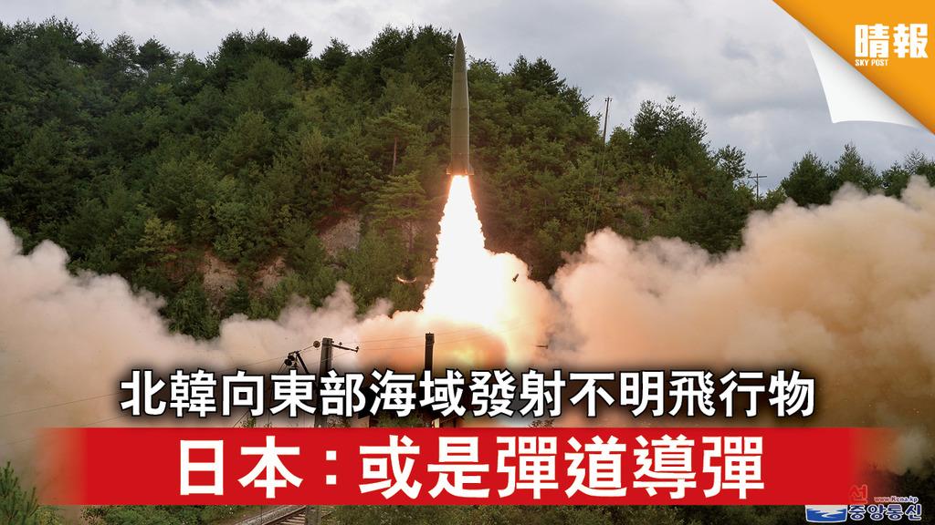 半島危機|北韓向東部海域發射不明飛行物 日本:或是彈道導彈