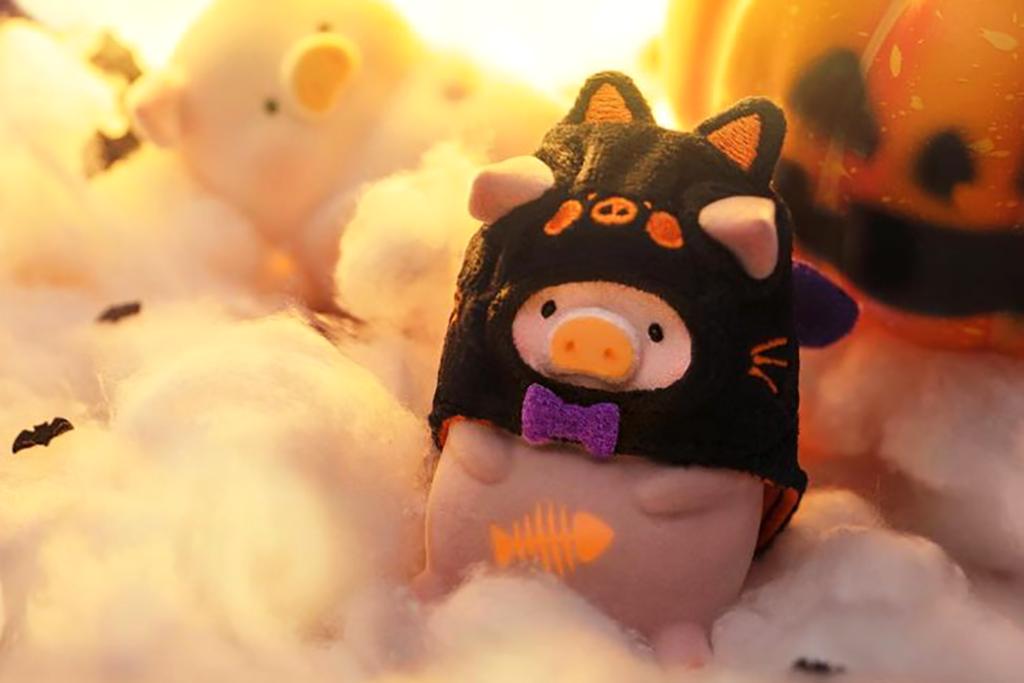 萬聖節Lulu豬公仔限定新登場! 夜光效果/魔法小黑貓可愛造型